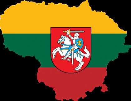 LITWA MAPA FLAGA GODLO